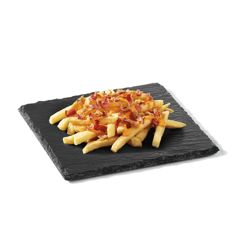King Fries (+ Cheddar + Bacon + Cebola)