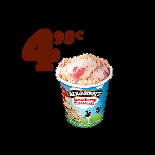 Promo Ben & Jerry,s Strawberry Cheesecake